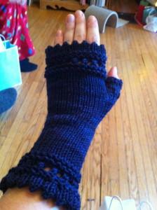 Hand-Knit Fingerless Gloves