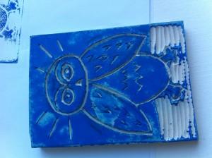 Owl Linocut Print