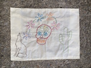Embroidered Sun Shade