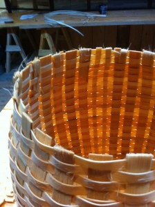 Pack Basket - weaving finished