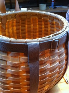 Pack Basket - the rim and straps all fitted and finished!