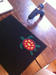 Embroidered Turtle Ornament