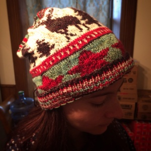 1950s inspired Christmas Toque